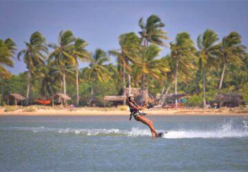 kitesurfen, flachwasser, lagune, stehrevier, sri lanka