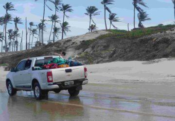 kitesafari, brasilien, pickup, strand, kitesurfen