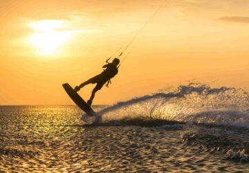 kiturlaub sri lanka, kitesurfen kalpitiya, lagune, flachwasser, sunset