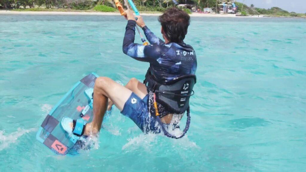 wasserstart, kitesurfen, lernen, tutorial